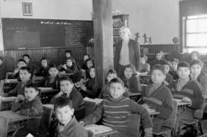 Anglican mission school, La Ronge, Sask. LAC photo