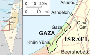 Gaza under attack 2014, Wikipedia image