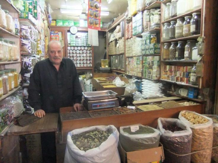 Shopkeeper in Aleppo, Syria prior to civil war. Dennis Gruending photo