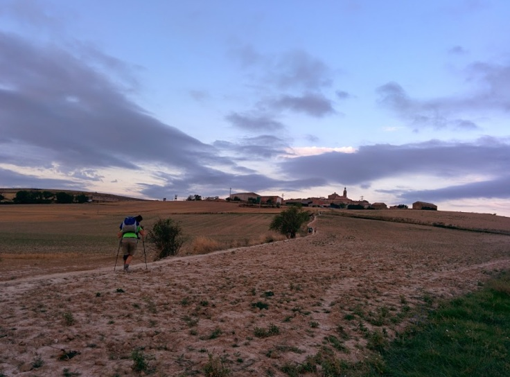 Early morning in farm country near Los Arcos, Spain