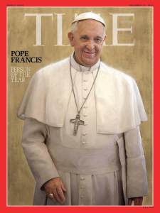 Pope Francis, Time magazine's Person of the Year in 2013
