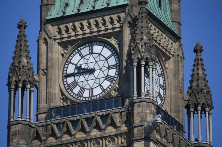 Peace Tower Clock on Parliament Hill in Ottawa. Photo by Creative Commons