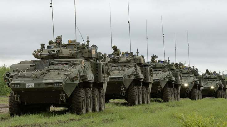 The Canadian government will continue to allow sales of light armoured vehicles to Saudi Arabia