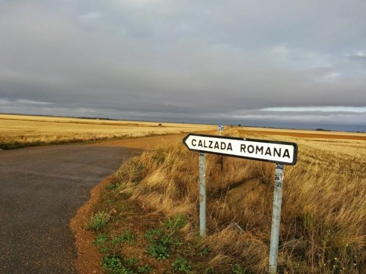 Old Roman road on Spanish meseta