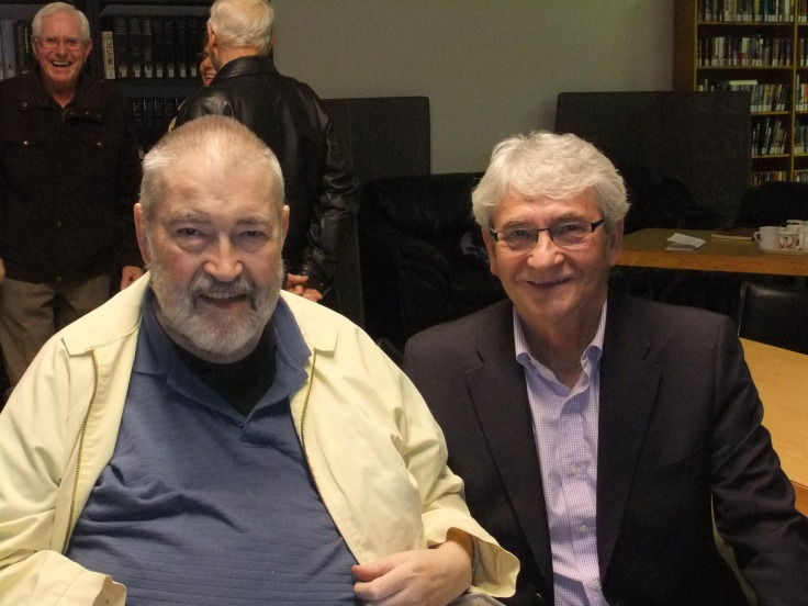 Fr. Andrew Britz and Dennis  Gruending
