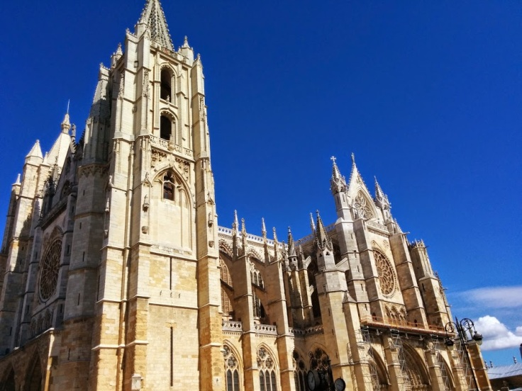 León's gothic cathedral contains wonderful stained glass