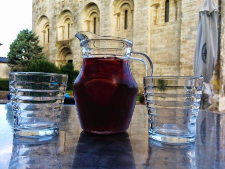 Cool Sangria after a hot days's hike