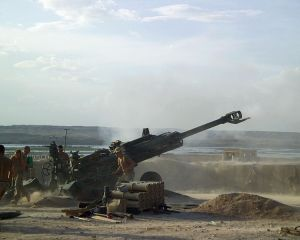 Canadian soldiers firing artillery in Afghanistan, Courtesy Creative Commons