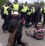 Anti-fracking protest in New Brunswick, 2013