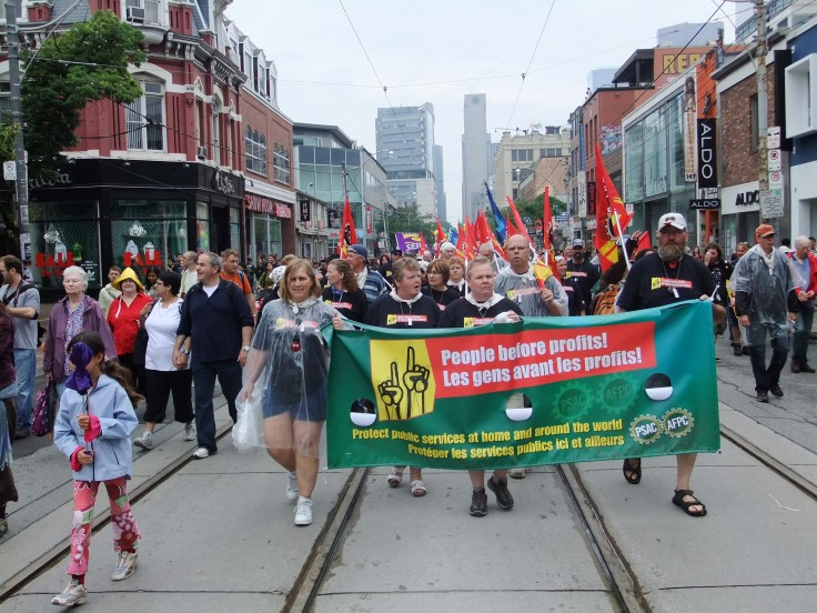 Unins benefit society so Canada's workers can walk proudly on Labour Day.