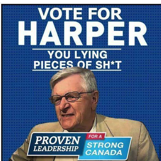 Spoof on man who accosted reporters at Conservative campaign event, Internet image