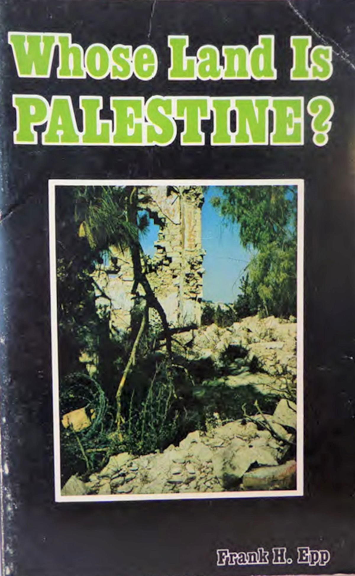 A book called Whose Land is Palestine? provides a good grounding for the contested historical claims in Israel-Palestine.